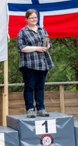Siv Marit Løvhaug fikk kongepokalen på bakgrunn av resultatet 378 poeng under luft NM.